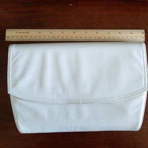 Handbags - Frenchy of California white leather clutch